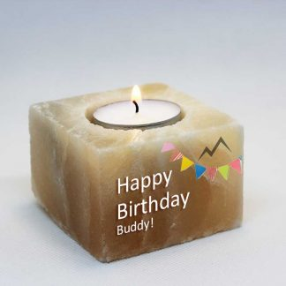 Birthday Salt Candle